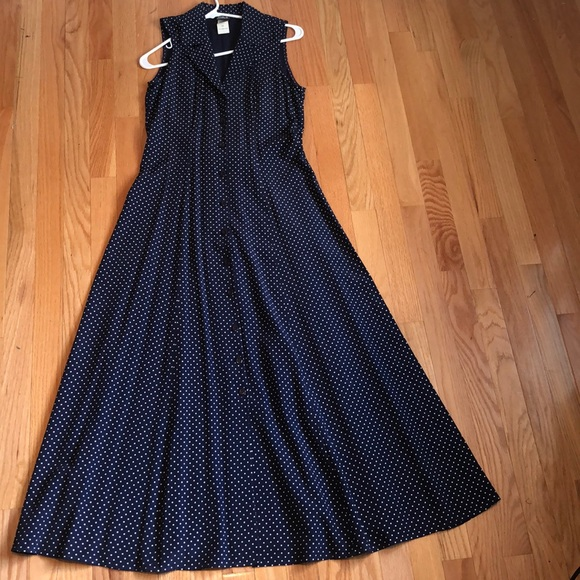 Dresses & Skirts - Women's dress: navy with white polka dots